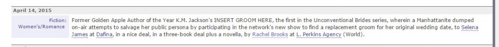 Publishers Marketplace Deal 4-14 B